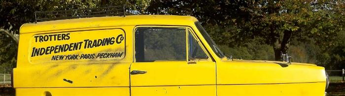 The Trotters Only Fools and Hourses Yellow three wheeler car
